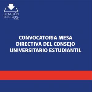 Convocatoria CUE 2020
